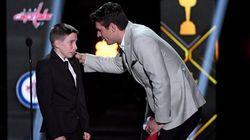 Carey Price offre un autre grand moment d'émotion au jeune Anderson