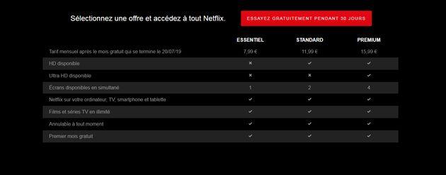 Netflix augmente ses tarifs d'abonnements en