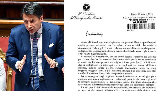 Ecco la lettera di Conte all'Ue:
