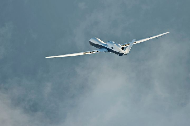 The MQ-4C Triton's manufacturer, Northrop Grumman, says on its website that the Triton can fly for over 24 hours at a t