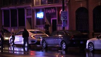 Ten people were injured when gunfire erupted near a Lehigh Valley bar.