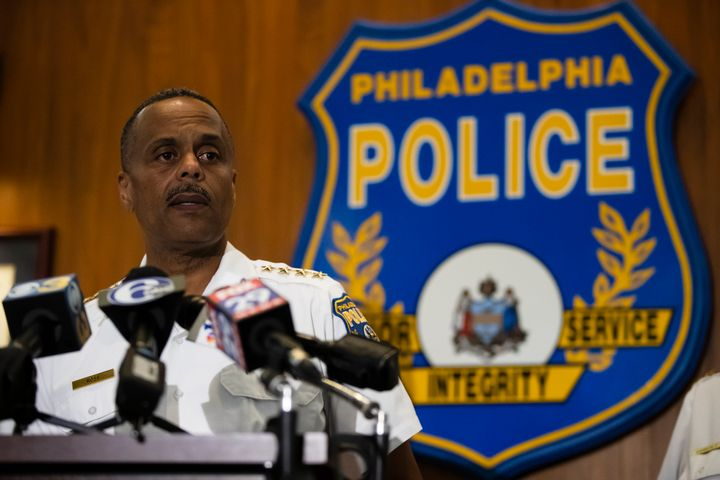 Philadelphia Police Commissioner Richard Ross speaks with members of the media during a news conference in Philadelphia on We