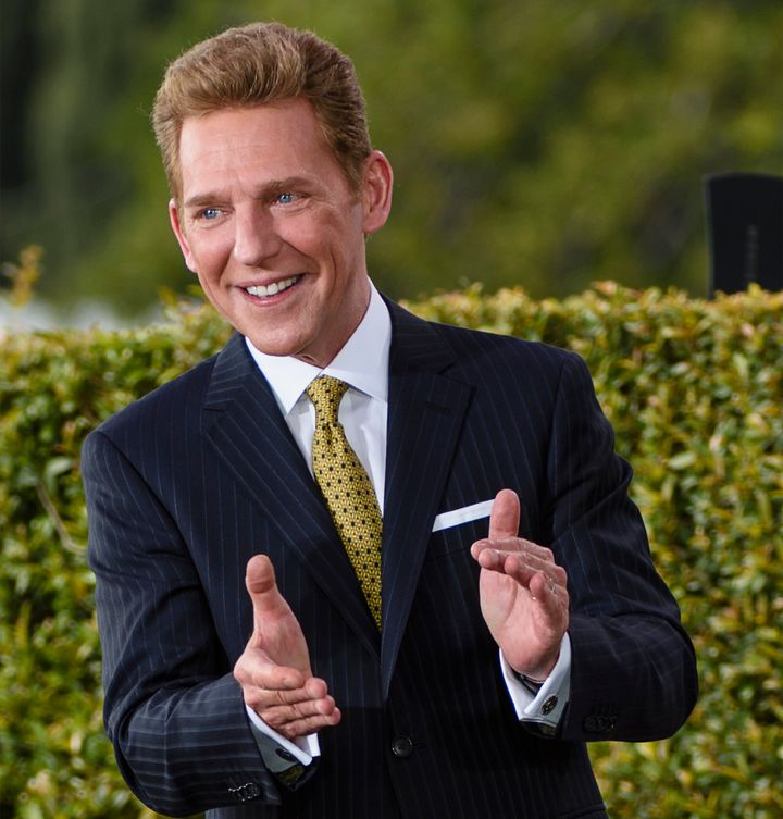 In this handout photo provided by the Church of Scientology, David Miscavige, its ecclesiastical leader, dedicates a new 95,0