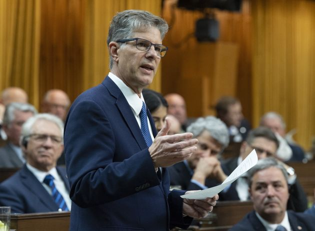 Conservative MP Mark Warawa delivers his final speech in the House of Commons on May 7,
