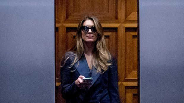 Former White House communications director Hope Hicks leaves following a closed-door interview with the House Judiciary Committee on Capitol Hill in Washington, Wednesday, June 19, 2019. (AP Photo/Andrew Harnik)