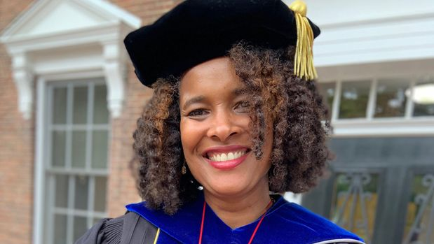 Marijuana Pepsi Vandyck completed her dissertation and received a Ph.D. from Cardinal Stritch University in May. She kept her birth name of Marijuana Pepsi to prove to herself and others that you can overcome any obstacles in life and achieve your dreams. (Photo: Jim Stingl / Milwaukee Journal Sentinel)