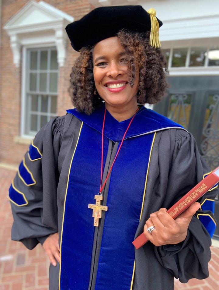 Marijuana Pepsi Vandyck, who earned her Ph.D. last month from Milwaukee's Cardinal Stritch University.
