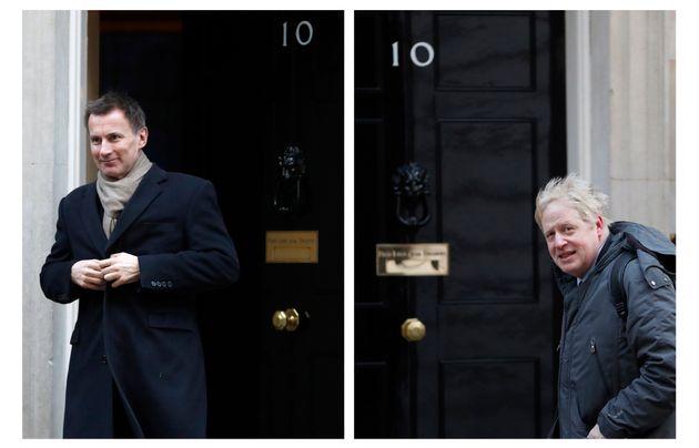Jeremy Hunt y Boris Johnson, en imágenes de archivo, ante el 10 de Downing Street, en