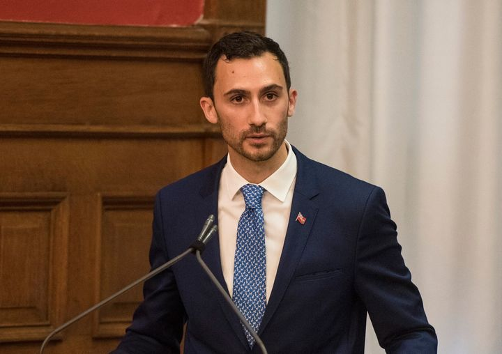 Stephen Lecce is sworn in as Ontario's minister of education at Queen's Park in Toronto on June 20, 2019.