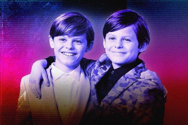 Nicholas e Cameron Crovetti fazem os papéis de Max e Josh Wright, respectivamente, em Big Little