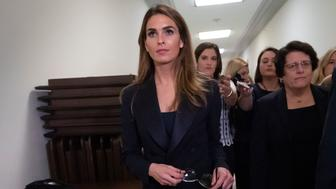 Former White House communications director Hope Hicks departs after a closed-door interview with the House Judiciary Committee on Capitol Hill in Washington, Wednesday, June 19, 2019. (AP Photo/J. Scott Applewhite)
