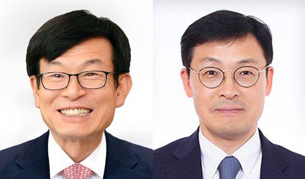 김상조 공정거래위원회 위원장(왼쪽), 이호승 기획재정부