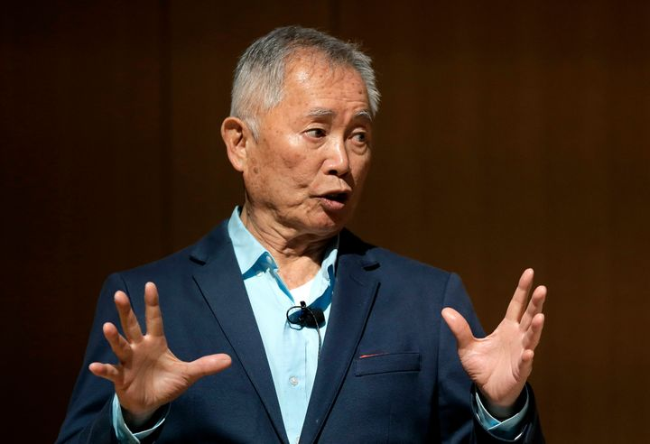 Actor George Takei speaks May 8, 2018, about his experiences in U.S. internment camps during World War II at an appearance at