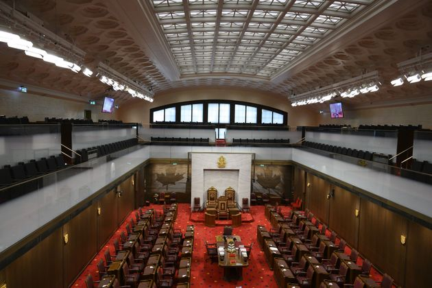 File photo of the Senate of Canada building and Senate Chamber are pictured in Ottawa on Feb. 18,