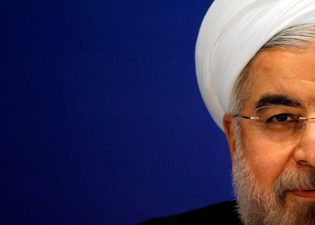 El presidente de Irán, Hassan Rouhani, durante una rueda de prensa en Shanghai, en