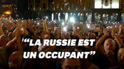 Des milliers de manifestants en Géorgie ont tenté d'investir le