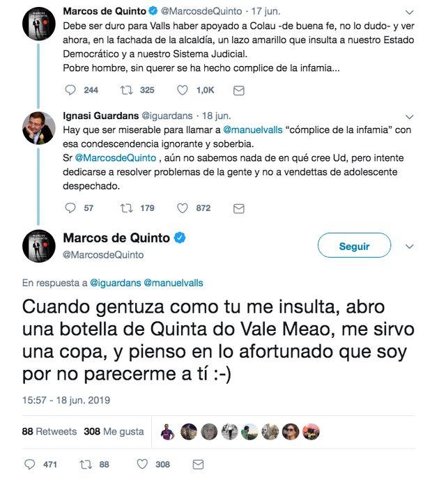 El irónico 'zasca' de Dani Mateo a Marcos de Quinto por su 'sobrada' respuesta a la