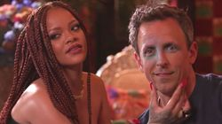 Rihanna Went Day Drinking With Seth Meyers And It Got Very, Very
