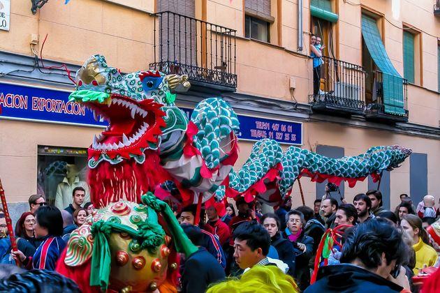 Celebración del año nuevo chino en