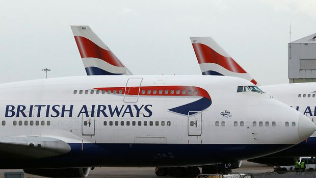 FILE - In this Jan. 10, 2017 file photo, British Airways planes are parked at Heathrow Airport in London. British Airways will resume flights to Pakistan in June 2019, a decade after it suspended operations following bombing on the Marriott Hotel in Islamabad that killed dozens, an official of British Airways said in a statement, Tuesday Dec. 18. 2018. (AP Photo/Frank Augstein, File)