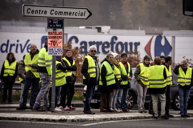Yellow vests in Givors, November 17.