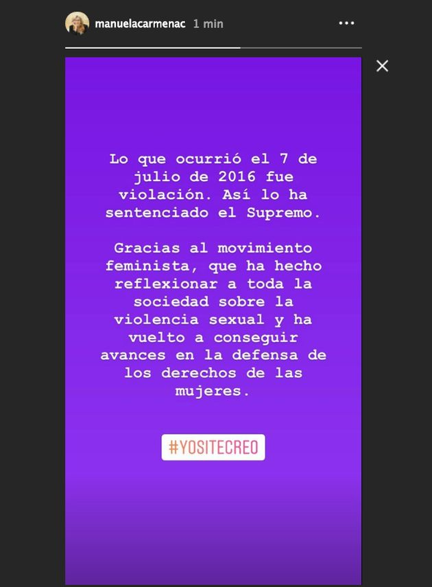 El reivindicativo mensaje de Manuela Carmena tras la sentencia de La