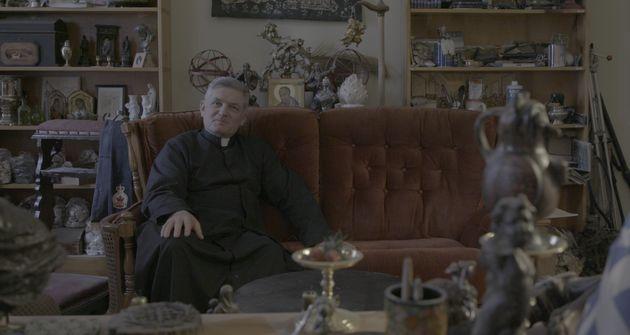 L'abbé Olivier Berteaux, directeur de l'école