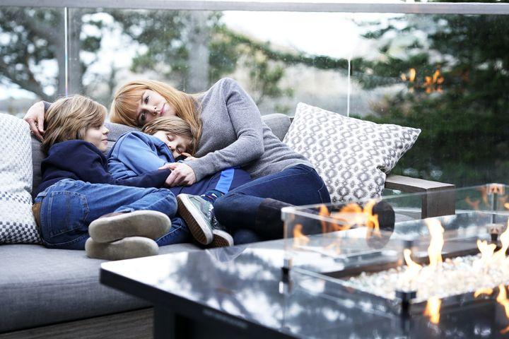 "The Crovetti twins with Nicole Kidman on ""Big Little Lies."""