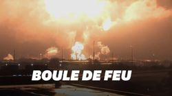 Les images spectaculaires de l'explosion d'une raffinerie à