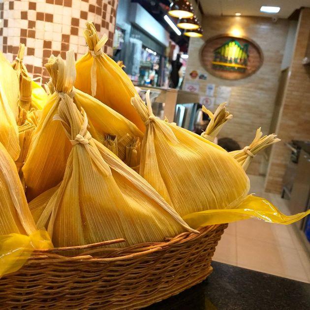 Loja da Fábrica Di Pamonha, no Mercado Municipal de