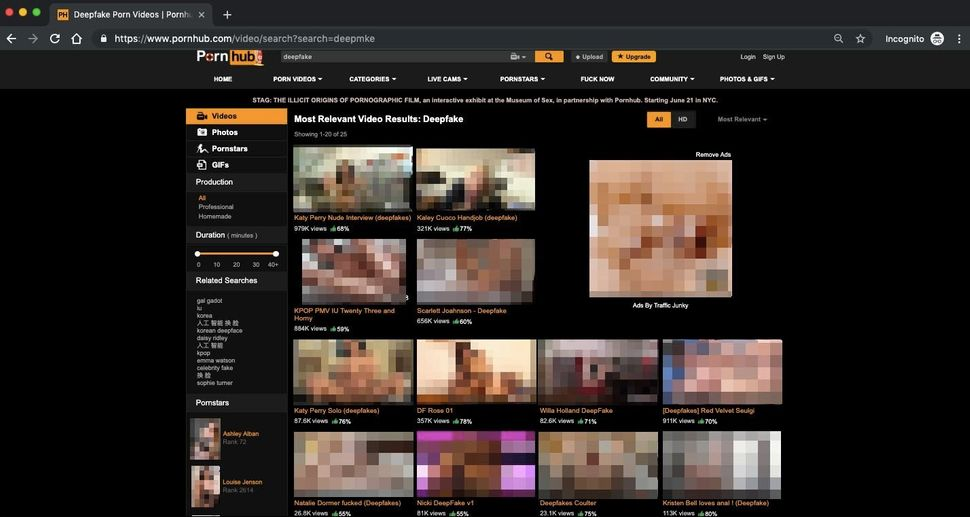Pornhub is still riddled with deepfakes, despite promising to ban them more than a year
