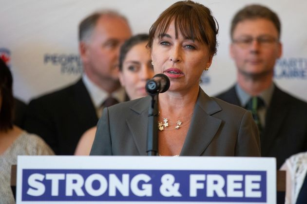 People's Party of Canada candidate Renata Ford speaks at an announcement in Toronto on June 21,