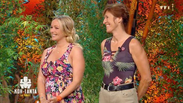 Cindy et Maud sur le plateau de la finale de