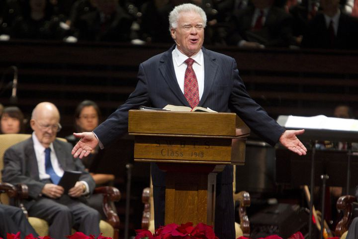 Paige Patterson speaks at a meeting on Dec. 1, 2011. A woman who said Patterson threatened and humiliated her after she repor