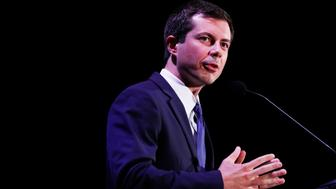 Democratic presidential candidate and South Bend, Ind., Mayor, Pete Buttigieg speaks during a forum on Friday, June 21, 2019, in Miami. (AP Photo/Brynn Anderson)