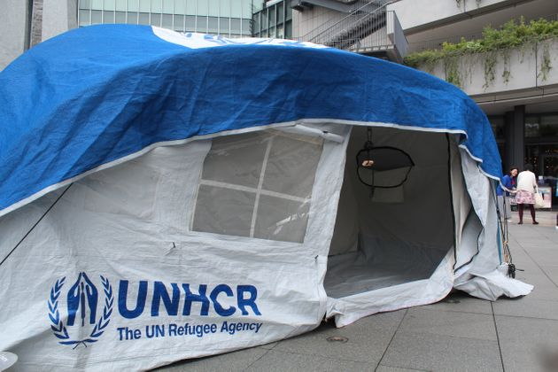 会場に設置されたテント
