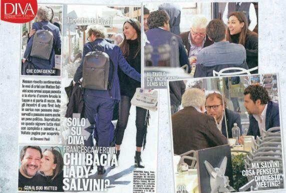 Lotti e i Verdini, compresa Francesca, compagna di Salvini. Un caffè in centro a