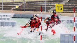 Pécresse en rafting pour l'inauguration du premier site des