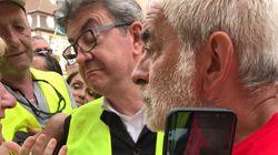 Mélenchon enfile un gilet jaune en soutien aux salariés de General
