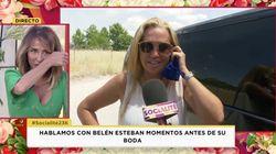 Las lágrimas María Patiño a escasas horas de la boda de Belén Esteban: