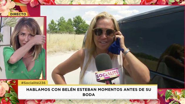 Las lágrimas María Patiño antes de la boda de Belén Esteban: