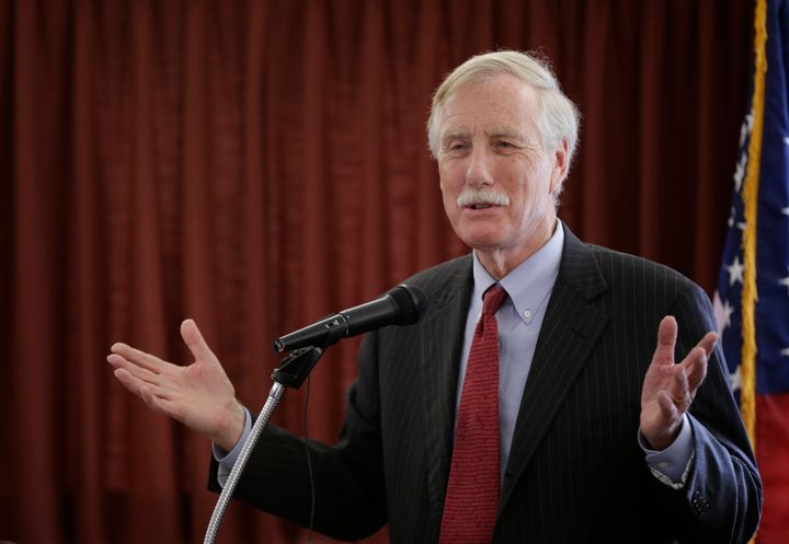 Sen. Angus King hopped in a car with some newfound friends for an impromptu road trip this week.