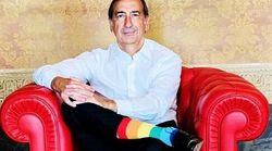 Beppe Sala in calzini rainbow, ma è