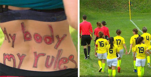Protesta pro-aborto e pro-Lgbt: sospesa la partita della squadra di calcio femminile del