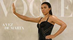 Marta estampa capa da Vogue e critica diferença salarial entre homens e mulheres em