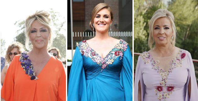 El vestido de una colaboradora de 'Sálvame' invitada a la boda de Belén Esteban que puedes comprar por...