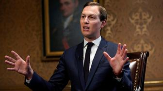 White House senior adviser Jared Kushner is interviewed by Reuters at the Eisenhower Executive Office Building in Washington, U.S., June 20, 2019. Picture taken June 20, 2019. REUTERS/Kevin Lamarque