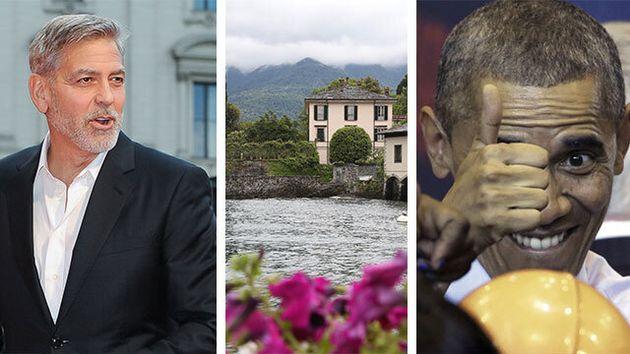 Arriva Obama ma la piscina è fredda, Clooney chiama l'idraulico: