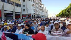 А̀ Rabat, des milliers de participants à la marche de solidarité avec la