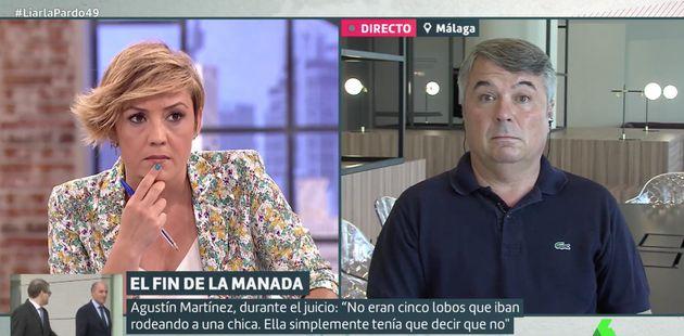 Agustín Martínez y Cristina Pardo en 'Liarla